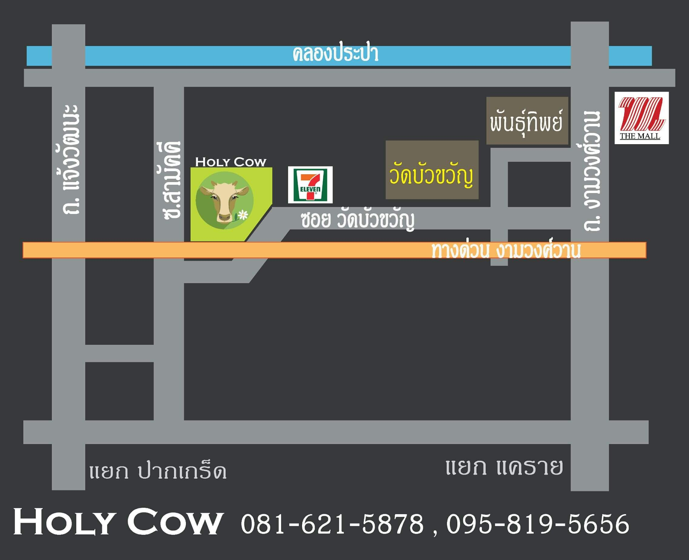 Map holy cow milk